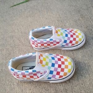 Vans classic unisex checkered sneakers sz 6 baby